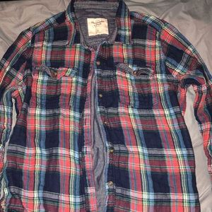 Plaid Abercrombie & Fitch button down shirt